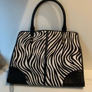 Rebecca Minkoff zebra pony hair tote bag